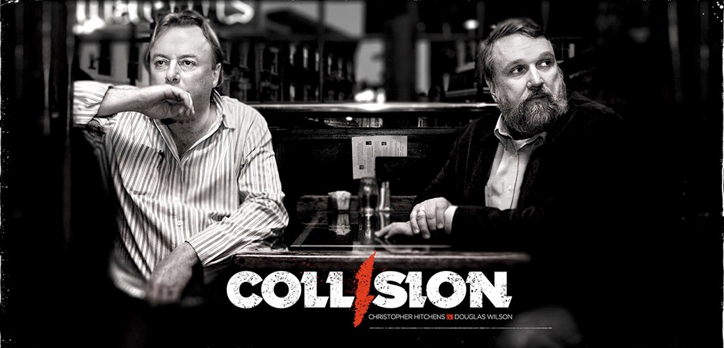 Christopher Hitchens and Gary Wilson (media for the film Collision)